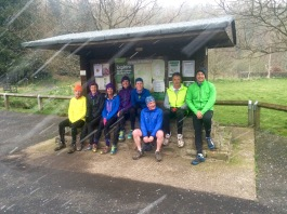 running club in the rain!