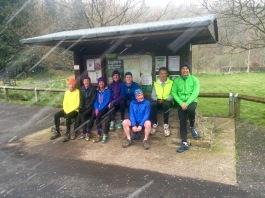 running club in the rain!